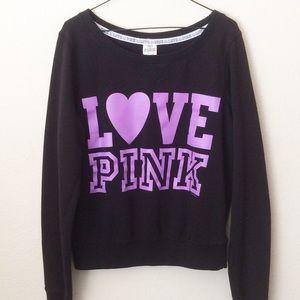 Pink Victoria's Secret Love Sweatshirt